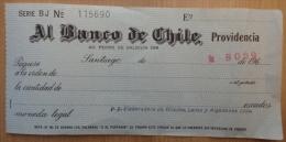 CHEQUE BANCO  DE CHILE - Cheques & Traveler's Cheques