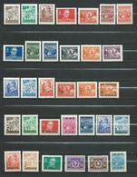 Yugoslavia 1947/50 Lot - 32 Different Stamps - Partisans Motive - Tito.**MNH - Unused Stamps
