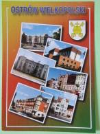 "Poland 1998 Postcard """"Ostrow Wielkopolski Arms"""" To England - Pinecones Larix - Poland"