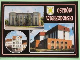 "Poland 1999 Postcard """"Ostrow Wielkopolski Castle Palace"""" To England - Country Estates Lopusznej - Poland"
