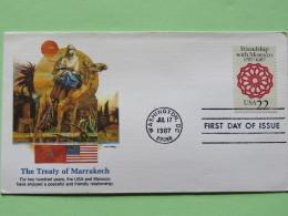 USA 1987 FDC Cover - Friendship With Morocco - Flag - Camel - Stati Uniti