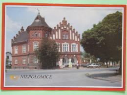"Poland 1999 Postcard """"Niepolomice Town Hall"""" To England - Adam Mickiewiccz Poet Writer - Poland"