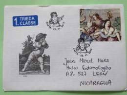Slovakia 2012 FDC Cover Casta To Nicaragua - Painting Bare Breast Woman - Nude Kid - Slovakia