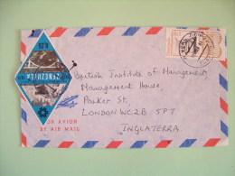 Venezuela 1981 Cover To England - Bolivar - Road And Bridge - Rhomboid Shape Stamp - Venezuela