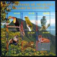 Nicaragua 2001 -  Endangered Wildlife Front Of Mombacho Volcano - Animals Birds - Nicaragua
