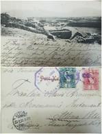 O) 1906 GUATEMALA, NATIONAL EMBLEM SCOTT A13 1 CENTAVO - 2 CENTAVOS, POSTAL CARD AREQUIPA -MISTI - STRATOVOLCANO-LANDSCA - Guatemala