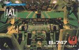 Télécarte Japon / 110-31933 - AVIATION - JAL - B-747 - JAPAN AIRLINES Phonecard - Avion 2183 - Avions