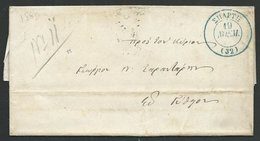 GREECE 1860 Small Prestamp Entire - Blue Cds - Year Missing................59258 - ...-1861 Préphilatélie