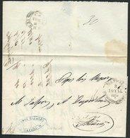GREECE 1855 Prestamp Entire PATRAS To Athens...............................66448 - Greece