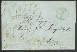 GREECE 1858 Prestamp Entire - ARTOS To Athens..............................59252 - ...-1861 Préphilatélie