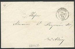 GREECE 18561 Prestamp Entire To Athens - Arrival Cds On Reverse............59256 - ...-1861 Préphilatélie
