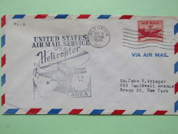 USA 1949 First Flight Cover Glenview (Chicago Back Cancel) To Bronx - Plane - Helicopter - Brieven En Documenten