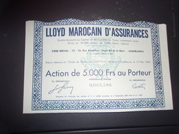LLOYD MAROCAIN D'ASSURANCES (casablanca,maroc) - Azioni & Titoli