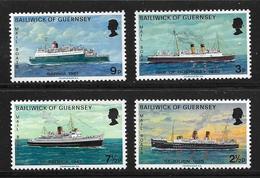 GUERNESEY 1973 Bateaux  YVERT N°70/73  NEUF MNH** - Ships