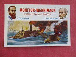 Civil War --- Monitor- Merrimack   =ref 2895 - Warships