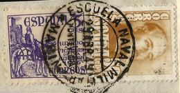 RARO MATASELLOS - ESCUELA NAVAL MILITAR - MARÍN  PONTEVEDRA 1949 - Machine Stamps (ATM)