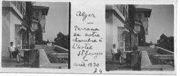 034 PP ALGERIE ALGER Terrasse De Notre Chambre Hôtel Saint Georges Avril 1930 - Plaques De Verre