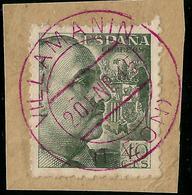 RARO MATASELLOS  - VILLAMANÍN  - LEÓN - EN ROJO DE 1945 - Machine Stamps (ATM)