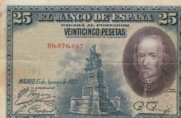 BILLET DE BANQUE... ESPAGNE  25 - Espagne