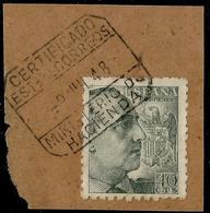 RARO MATASELLOS  - MINISTERIO DE HACIENDA - CERTIFICADO 1948 - Machine Stamps (ATM)