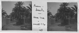 049 PP ALGERIE BOU-SAADA - Une Rue Avril 1930 - Glass Slides