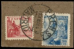 RARO MATASELLOS  - PRENSA MADRID 1943 - Machine Stamps (ATM)