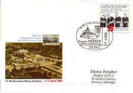 "BRD Amtl.GZS-Umschlag USo 116 ""14. BM-Messe Koblenz"" SSt. 21.4.2006 WILHELMAHAVEN - Buste - Usati"