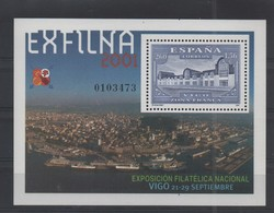 LOT 674 - ESPAGNE   BF   N° 97** - EXFILNA 2001 - BATIMENT - Philatelic Exhibitions