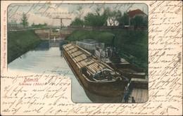 Ansichtskarte Dömitz Schlepper, Kähne - Schleuse  Ludwigslust 1901 - Dömitz