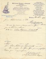 Maritime // Allemagne - Bremen - Entête Du 20 Juli 1897 - Matthias Rohde & Jörgens - Transport