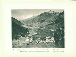 Kupfertiefdruck : St. Gotthard-Hospiz. Madrano, Valle Und Airolo Gegen Gotthard. - Estampes & Gravures