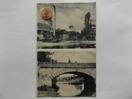 Gruss Aus Lanzendorf, Ofr. Fabrik, Brücke, Ort, 1909 - Muenchen