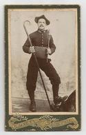 CDV  Chasseur Alpin - Soldat  158 Régiment Infanterie Alpine - Taillole - Alpenstock à Bec Recourbé. - Guerre, Militaire