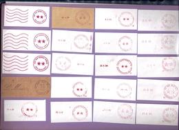LOT 319   ENSEMBLE DE 20  FRAGMENTS  FLAMMES PORT PAYE - Marcophilie (Lettres)