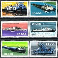 DDR - Mi 2651 / 2656 - ** Postfrisch (F) - Binnenschiffe - [6] Oost-Duitsland