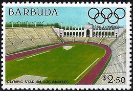 Barbuda 1984 - Los Angelès Olympics : Stadium ( Mi 740 - YT 697 ) MNH** - Antigua And Barbuda (1981-...)