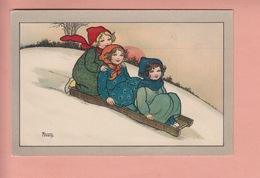 OLD POSTCARD -   ARTIST SIGNED - FLORENCE HARDY - CHILDREN - WINTERSPORT - SLEDGE 1913 - Hardy, Florence