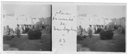 073 PP ALGERIE BENI-ISGUEN - Place Du Marché   Avril 1930 - Glass Slides