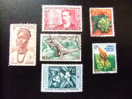 AFRICA OCCIDENTAL FRANCESA A.O.F 6 Timbres Yvert 34 + 52 + 47 + 62 + 69 + 70 FU - Nuevos