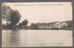 SERMAIZES - LES - BAINS .Le Canal De La Meuse Au Rhin Et La Raffinerie . - Sermaize-les-Bains