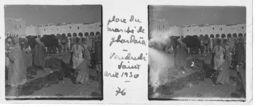 076 PP ALGERIE Place Du Marché De GHARDAÏA - Vendredi Saint Avril 1930 - Glass Slides