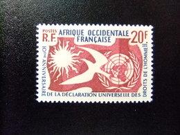 AFRICA OCCIDENTAL FRANCESA A.O.F 1958 - 10 Anniversaire De ONU Yvert N 74 ** MNH - Nuevos