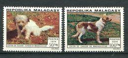 222 MADAGASCAR 1974 - Yvert 547/48 - Chien - Neuf ** (MNH) Sans Trace De Charniere - Madagascar (1960-...)