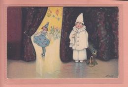 RARER OLD POSTCARD -  ARTIST SIGNED  BAUMGARTEN  - CHILDREN - THEATRE - MEISSNER BUCH 2927 - Baumgarten, F.
