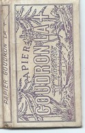 Carnet De Papier à Cigarettes/ Papier Goudron Authentique/ Papier GOUDRON La +/N°110/Paris 1900/Vers 1920-1950     CIG41 - Altri