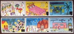 Anguilla 1977 Christmas Surcharged Set MNH - Anguilla (1968-...)