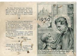 Calendrier De Poche 1950 / SAINT JEAN BOSCO / PARIS - Calendriers