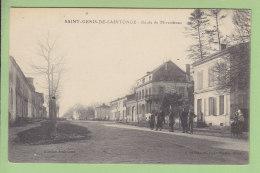 SAINT GENIS DE SAINTONGE : Route De Mirambeau. 2 Scans. Edition Dando - Andere Gemeenten