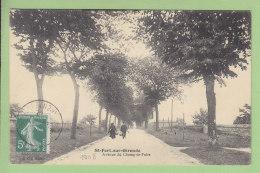 SAINT FORT SUR GIRONDE : Avenue Du Champ De Foire. TBE. 2 Scans. Edition Coq - Andere Gemeenten