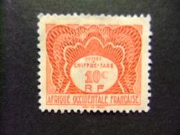 AFRICA OCCIDENTAL FRANCESA A.O.F 1947 Timbre Tax Yvert 1 FU - Nuevos